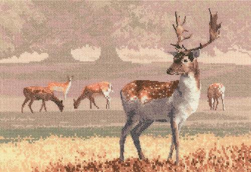 """Набор для вышивания крестом Heritage """"Парк с оленями"""""""