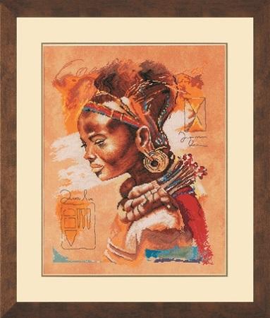 """Набор для вышивания крестом LANARTE """"Африканская женщина"""""""