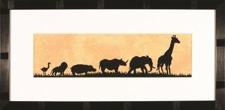 """Набор для вышивания крестом LANARTE """"Парад диких животных"""""""