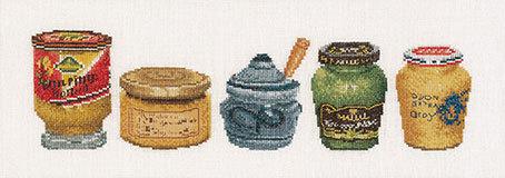 """Набор для вышивания крестом Thea Gouverneur """"Банки с горчицей"""""""