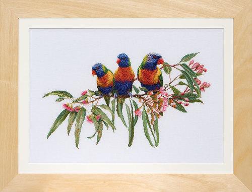 """Набор для вышивания крестом Thea Gouverneur """"Стайка попугаев"""" (фото)"""