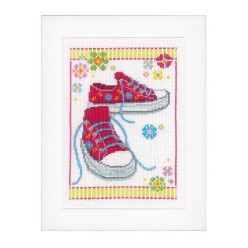 """Набор для вышивания крестом Vervaco """"Розовые кроссовки"""""""