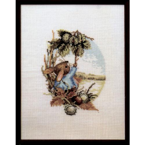 """Набор для вышивания крестом Oehlenschlager """"Кролик крадёт каштаны"""""""