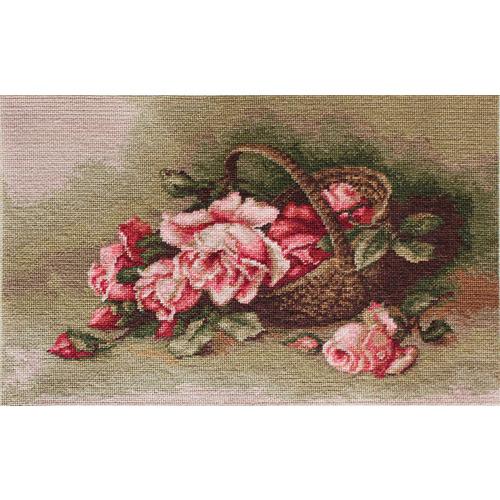 "Гобелен Luca-S ""Корзина с розами"""
