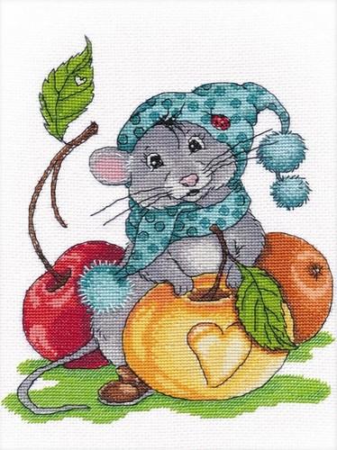 """Набор для вышивания крестом Овен """"Запасливый мышонок"""""""