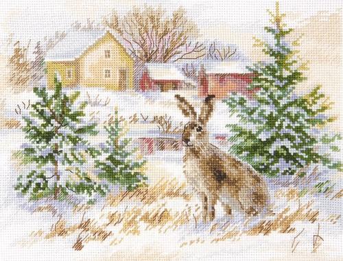 """Набор для вышивания крестом Алиса """"Зимний день. Заяц-русак"""""""