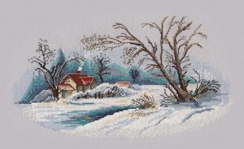 """Набор для вышивания крестом Овен """"Зимний пейзаж"""""""