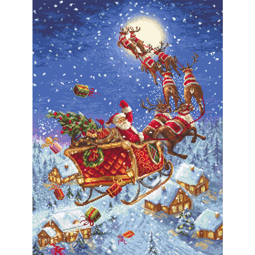 """Набор для вышивания крестом Letistitch """"The reindeers on its way!"""""""