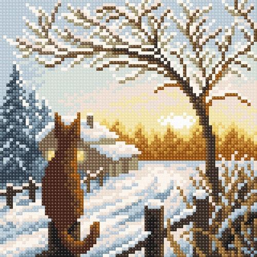 """Набор для выкладывания мозаики Brilliart (от МП Студии) """"Рассвет в деревне"""""""