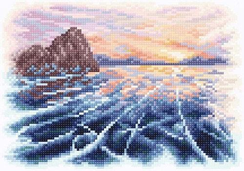 """Набор для выкладывания мозаики Brilliart (от МП Студии) """"Закат на Байкале"""""""