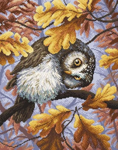 """Набор для выкладывания мозаики Brilliart (от МП Студии) """"Сова осенью"""""""