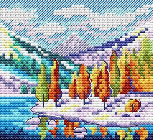 """Набор для вышивания крестом М.П. Студия """"Осень в горах"""""""