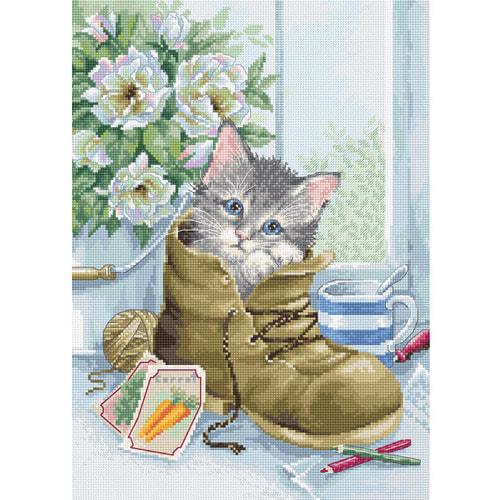 """Набор для вышивания крестом Luca-S """"Милый котёнок"""""""