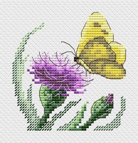 """Набор для вышивания крестом М.П. Студия """"Бабочка и репейник"""""""