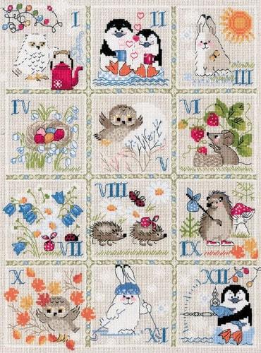 """Набор для вышивания крестом Риолис """"Лесной календарь"""""""