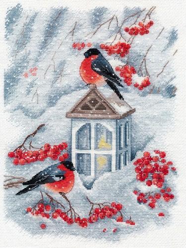 """Набор для вышивания крестом Овен """"А снег идет"""""""