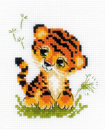 """Набор для вышивания крестом Риолис """"Крошка тигр"""""""