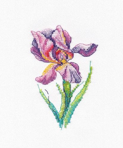 """Набор для вышивания крестом Овен """"Радужный цветок"""""""