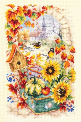 """Набор для вышивания крестом Чудесная игла """"Яркая осень"""""""