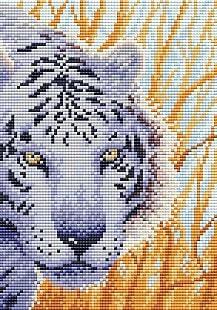 "Мулине Brilliart (от МП Студии) ""Снежный тигр"""
