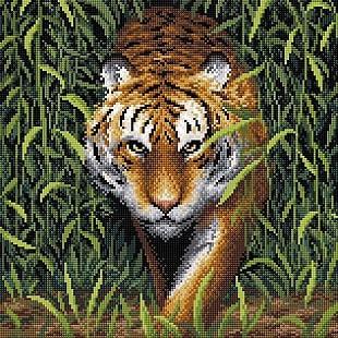 """Набор для выкладывания мозаики Brilliart (от МП Студии) """"Царь джунглей"""""""