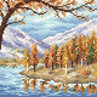 """Набор для выкладывания мозаики Brilliart (от МП Студии) """"Походная осень"""""""