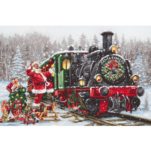 """Набор для вышивания крестом Luca-S """"Santas Express"""""""