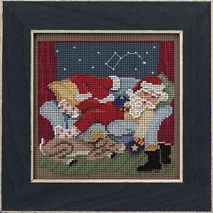 """Набор для вышивания бисером MILL HILL """"Спокойной ночи Санта"""""""