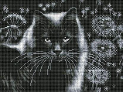 """Набор для выкладывания мозаики Белоснежка """"Кот и одуванчики"""""""