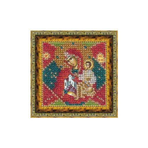 """Канва/ткань с нанесенным рисунком Вышивальная Мозаика """"Икона Неопалимая Купина"""""""