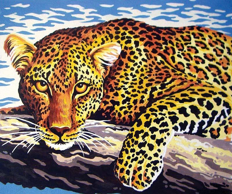 """""""Взгляд леопарда"""" — Канва/ткань с нанесенным рисунком от ...  Взгляд Леопарда"""