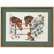 """Набор для вышивания крестом Eva Rosenstand """"Лошади и щенок"""""""