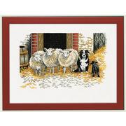 """Набор для вышивания крестом Eva Rosenstand """"Овцы и пёс"""""""
