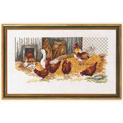 """Набор для вышивания крестом Eva Rosenstand """"Куры и гуси"""""""