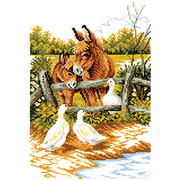 """Набор для вышивания крестом Eva Rosenstand """"Ослята"""""""
