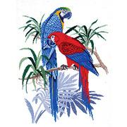 """Набор для вышивания крестом Eva Rosenstand """"Голубые попугаи"""""""