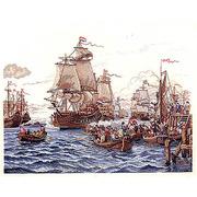 """Набор для вышивания крестом Eva Rosenstand """"Корабли на море"""""""