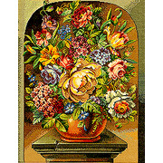 """Набор для вышивания крестом Eva Rosenstand """"Цветы"""""""
