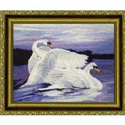 """Набор для вышивания крестом Kustom Krafts Inc. """"Лебеди"""""""