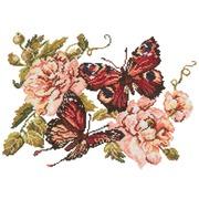 """Набор для вышивания крестом Чудесная игла """"Пионы и бабочки"""""""