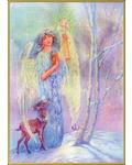 """Набор для вышивания крестом Kustom Krafts Inc. """"Ангел-хранитель зимы"""""""