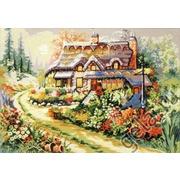 """Канва с нанесенным рисунком Gobelin-L """"Цветущий палисадник"""""""
