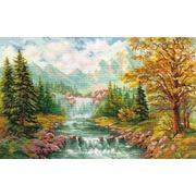 """Набор для вышивания крестом Алиса """"Горный водопад"""""""