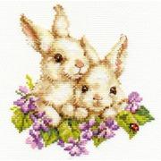 """Набор для вышивания крестом Алиса """"Крольчата"""""""