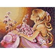 """Канва с нанесенным рисунком Diamant """"Розовые мечты"""""""
