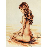 """Канва/ткань с нанесенным рисунком Gobelin-L """"Девственница"""""""