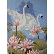 "Канва с нанесенным рисунком Gobelin-L ""Лебеди в лотосах"""