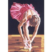"Канва с нанесенным рисунком Gobelin-L ""Юная балерина"""