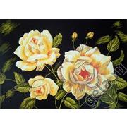 """Канва/ткань с нанесенным рисунком Gobelin-L """"Желтые розы"""""""