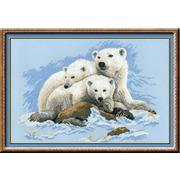 """Набор для вышивания крестом Риолис """"Белые медведи"""""""